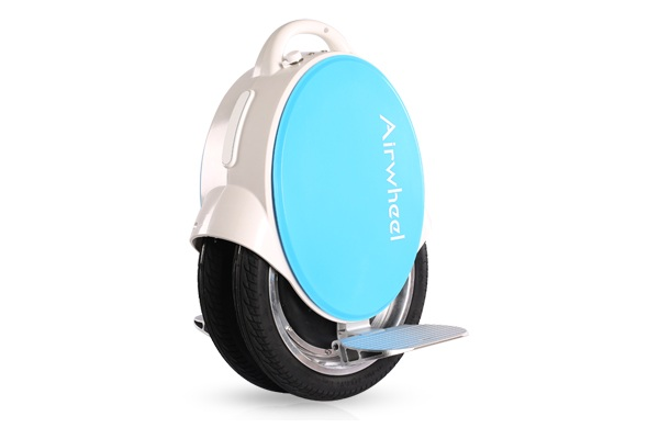 Airwheel Q5 170Wh Blue/Lime Electric Unicycle Twin Wheel