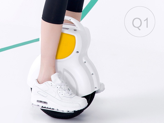 Airwheel Q1 170Wh Black/White Electric Unicycle Twin Wheel